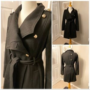Guess wool military inspired wrap coat